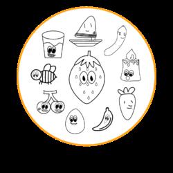 リトルトイズあにめのキャラクタースライド用ロゴです。