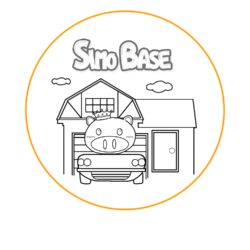 SIMOBASEのキャラクタースライド用アイコンです。